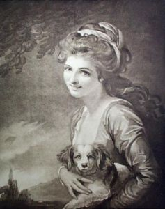 Lady Hamilton as Nature (Restrike Etching) by George Romney
