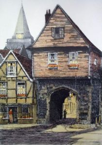 Rochester (Chertsey's Gate) (Restrike Etching) by Anonymous