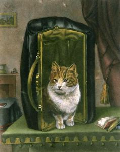 Cat Out Of The Bag (Restrike Etching) by Wildel