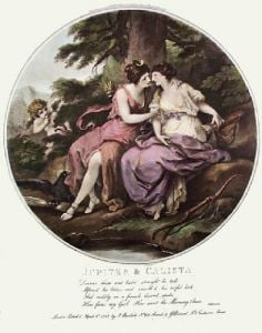Jupiter & Calista (Restrike Etching) by Angelica Kauffmann