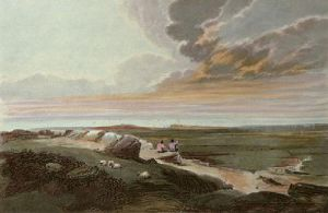 A Cloudy Day (Restrike Etching) by David Cox