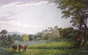 Berkeley Castle (Restrike Etching) by John Burden