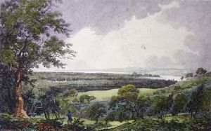Vale of Severn from Standish (Restrike Etching) by John Burden