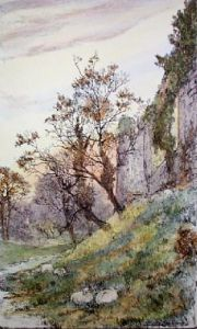Autumn Evening (Restrike Etching) by Edward Slocombe