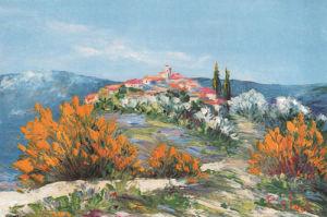 Fleurs jaunes etat II by Marcel Belvisi