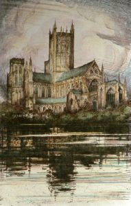 Wells Cathedral (small) (Restrike Etching) by Anonymous