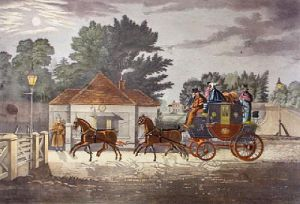 Moonlight Coachings - By Moonlight (Restrike Etching) by Henry Alken