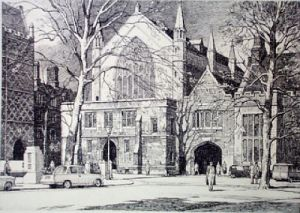 Lincoln's Inn (Restrike Etching) by Lawrence Josset