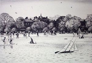 Kensington Gardens (Restrike Etching) by Lawrence Josset