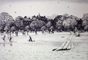 Kensington Gardens (Restrike Etching) by Lawrence Josset