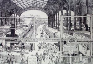 Liverpool Street Station (Restrike Etching) by Lawrence Josset