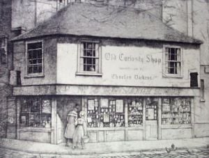 Old Curiosity Shop 1895 (Restrike Etching) by Lawrence Josset