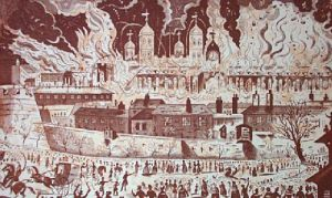 Fire of London (Restrike Etching) by Anonymous