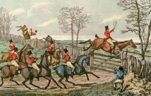 Getting Over (Restrike Etching) by Henry Alken