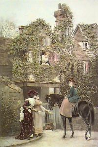 Squires Daughter (Restrike Etching) by Arthur Vernon
