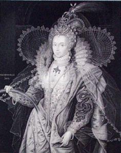 Queen Elizabeth (Restrike Etching) by William Derby