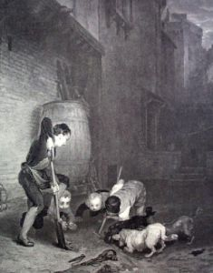 Rat Hunters, The (Restrike Etching) by Wilkie