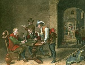 Tric Trac (Restrike Etching) by Julian Teniers