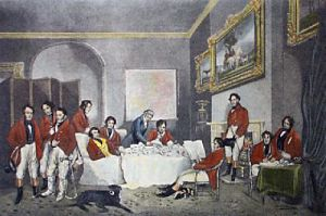 The Melton Breakfast (Restrike Etching) by Sir Francis Grant
