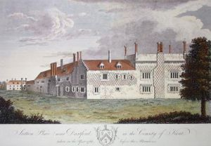 Sutton Place (Restrike Etching) by Anonymous
