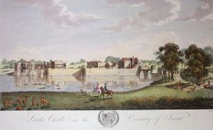 Leeds Castle (Restrike Etching) by Robert Godfrey