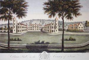 Cobham Hall (Restrike Etching) by Bayly