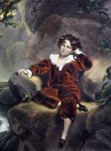 The Red Boy (Restrike Etching) by Sir Thomas Lawrence