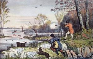 Flapper Shooting (Restrike Etching) by Henry Alken