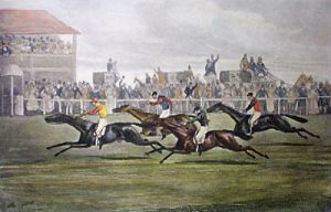 Race For The Welter Stakes (Restrike Etching) by Henry Alken
