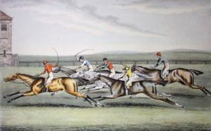 Race For The Claret Stakes (Restrike Etching) by Walter Hunt