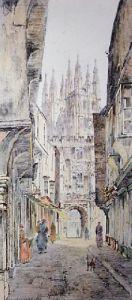 Canterbury 1885 (Restrike Etching) by Charles Watson