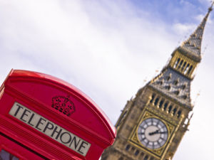 London Telephone Box and the Big Ben by Assaf Frank
