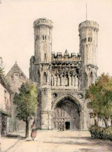 Canterbury, St. Augustins (Restrike Etching) by Anonymous