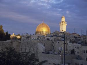 Israel, Jerusalem, Mosque against sky by Assaf Frank