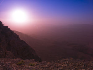 Sunrise over Ramon Crater, Israel by Assaf Frank