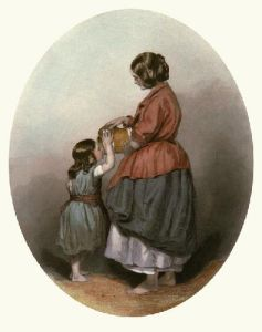 The Irish Mother (Restrike Etching) by Francis William Topham