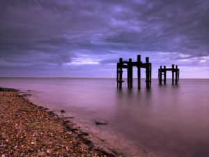 Old Jetty The Dolphins, Lepe Beach (I) by Assaf Frank
