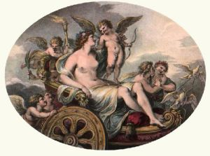 Triumph of Love & Beauty (Restrike Etching) by Giovanni Battista Cipiriani