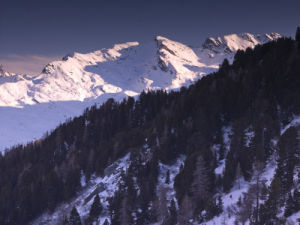 France, Snowcapped mountains, elevated view by Assaf Frank