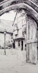 Winchester Close (Restrike Etching) by Anonymous