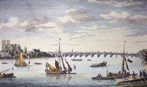 Westminster Bridge From Lambeth (Restrike Etching) by Anonymous