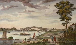 Walton Bridge (Restrike Etching) by Anonymous