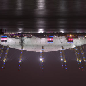 Millennium dome at night upside down by Assaf Frank