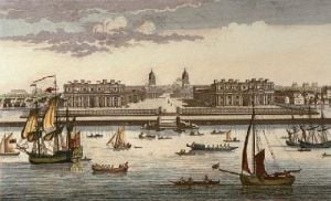 Royal Hospital, Greenwich (Restrike Etching) by Anonymous