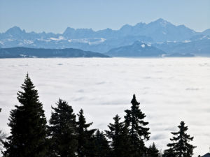 Mountains above clouds by Assaf Frank