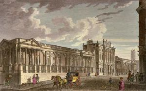 Bank of England, Threadneedle (Restrike Etching) by Thomas Bowles