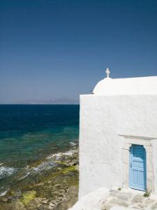 Church by the sea, Greece, Mykonos Island by Assaf Frank