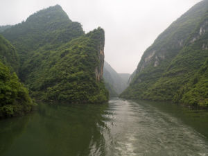China, Sichuan province, River by mountains by Assaf Frank