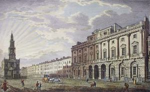 Somerset Place, View of (Restrike Etching) by Anonymous