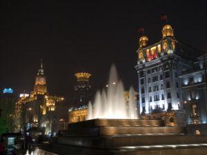 Buildings at Night, The Bund, Shanghai by Assaf Frank